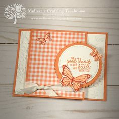 Check out my sneak peek of the April Simple Suite Stampers tutorial bundle that features the Gingham Gala product suite! I'll show 3 of the 8 projects! Butterfly Cards, Flower Cards, Stampin Up Anleitung, Easy Paper Crafts, Paper Crafting, Fun Fold Cards, Stamping Up Cards, Card Sketches, Scrapbook Cards
