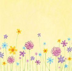 Étiquette jaune fleurie.