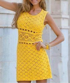 Красивый узор для женского вязания | Узоры для вязания | Постила Crochet Motif, Crochet Baby, Crochet Bikini, Crochet Skirts, Crochet Clothes, Crochet Magazine, Knit Dress, Crochet Projects, Short Sleeve Dresses