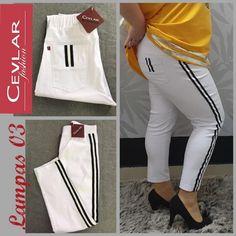 Spodnie z lampasem Cevlar BL03 kolor biały, rozmiar 38 – 40 – 42 - Big Sister Gym Bag, Fit, Bags, Fashion, Handbags, Moda, La Mode, Dime Bags, Fasion