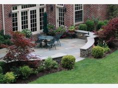 Patio - Home and Garden Design Idea's. like the landscaping around the patio