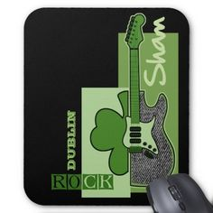 Sham Rock. St.Patrick's Day Customizable Gift Mousepads. Matching cards, postage stamps and other products available in the Holidays / St. Patrick's Day Category of the Mairin Studio store at zazzle.com