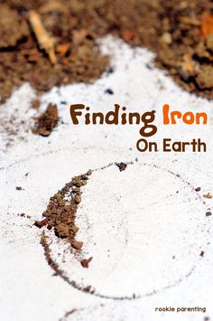 Extract iron from soil experiment