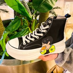 Lace-up fastening Graphic print design High-top style Pull tabs Padded for comfort Chunky sole Mens Shoes Boots, Men's Shoes, Shoe Boots, Graphic Design Print, Graphic Prints, Converse Chuck Taylor, High Tops, Trainers, High Top Sneakers