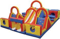 bouncy castles obstacle course
