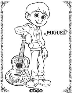 Disney Coco Coloring Pages. New Disney Coco Coloring Pages. Coco Coloring Sheets and Activity Sheets From Disney Pixar Coloring Sheets For Kids, Printable Coloring Sheets, Disney Coloring Pages, Coloring Pages For Kids, Coloring Books, Disney Pixar, Disney Colors, Activity Sheets, Disney Drawings