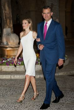 King Felipe, Queen Letizia  and Queen Sofia attended a reception to the authorities and society of the Balearic Islands at the Almudaina Palace in Palma de Mallorca.