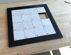 How to Make a Wooden Sliding Puzzle