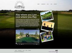 A brand new website for Saskatoon based Pinnacle Ridge Estates and Golf. My Community, Web Design, Golf, Website, Design Web, Website Designs, Wave, Site Design