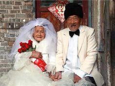 Wu Conghan & Wu Sognshi wedding photos 88 years later