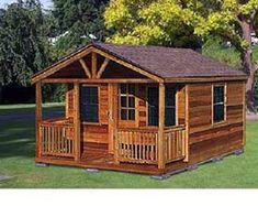 x Cottage / Cabin Shed With Porch Plans / Shed Building Plans, Diy Shed Plans, Building A House, Barn Plans, Building Ideas, Building Design, Shed With Porch, Shed Construction, Build Your Own Shed