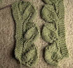 Leaves to Knit for Autumn – free patterns  #knitting edging #knitting leaves