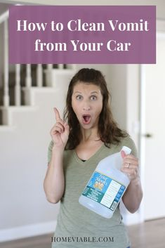 You would never wish for you passengers to have carsickness and vomit. But if this happens, here's a list of the thing to do in order to remove vomit from your car. #homeviable #DIYcleaning #cleaninghacks #DIY Cleaning Leather Car Seats, Clean Car Seats, Clean Couch, Room Cleaning Tips, Cleaning Solutions, Cleaning Hacks, Suede Couch, Washing Towels, Vinegar Cleaner