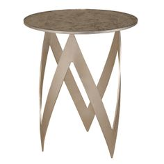 Pike Occasional Table - Silver leaf with semi-transparent antiqued mirror top www.niermannweeks.com