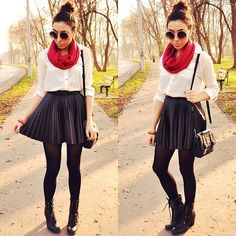Pleated skirt (by Pam S) http://lookbook.nu/look/4251031-pleated-skirt