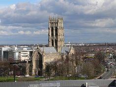 Vista de Doncaster, em Yorkshire do Sul, Inglaterra, Reino Unido.  Fotografia: Harleyamber.