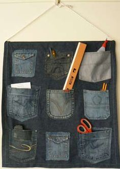 Remove those pockets of your old jeans