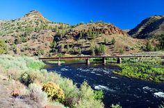 A bridge over the John Day River east of Service Creek. Wheeler County Scenic Images [130 images]
