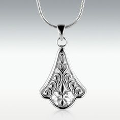 Victorian Tear Sterling Silver Cremation Jewelry - Engravable