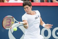 Carla Suárez Navarro of Spain Carla Suárez Navarro of Spain during their quarterfinals tennis match for the 2014 Rogers Cup women's tennis tournament at Uniprix Stadium in Montreal on Friday, August 8, 2014.