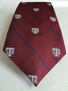 TEXAS A&M UNIVERSITY AGGIES MENS NECK TIE MUSICAL PLAYS FIGHT SONG BRAND NEW