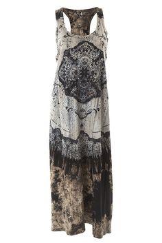 Lace Print Cotton Jersey Maxi Dress - Four Colours by Charlotte's Web | Charlotte's Web