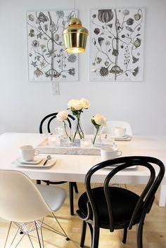 Dining / Roses / Eames Dsr / Marble / Hay / Ton / Thonet / Black & White / Artek A330