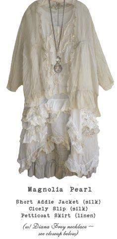Magnolia Pearl..Short Addie Jacket Cicely Slip, Petticoat Skirt (w/Diana Frey necklace)