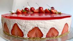 Ostekake med jordbær Most Favorite, Pavlova, Gelatin, No Bake Cake, Oreo, Panna Cotta, Cheesecake, Pudding, Favorite Recipes