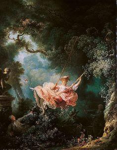 """L'escarpolette"" Jean-Honore Fragonard, 1767"