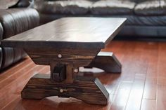 Reclaimed White Pine Timber Frame Coffee Table