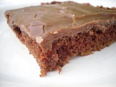 Texas Sheet Cake, or as my Mom used to call it: Church Cake (she'd make it for church dinners and to take for funerals)