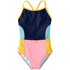 This bathing suit for camp Size 130 Colorblock Crossback One Piece by Hanna Andersson Kids Beach Party, Beach Kids, Cute Baby Dresses, Cute Baby Clothes, Kids Swimwear, One Piece Swimwear, Kids Beach Activities, Kids Swimming, Swimming Suits