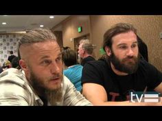 Vikings Season 2: Travis Fimmel & Clive Standen Interview - YouTube