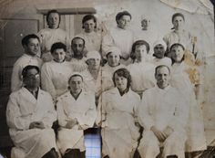 The hospital in Diektarkia, Novosibirsk, USSR may father is second row first on the left and my mother is next to him