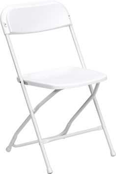 HERCULES Series 800 lb. Capacity Premium White Plastic Folding Chair, LE-L-3-WHITE-GG by Flash Furniture by Flash Furniture | BizChair.com