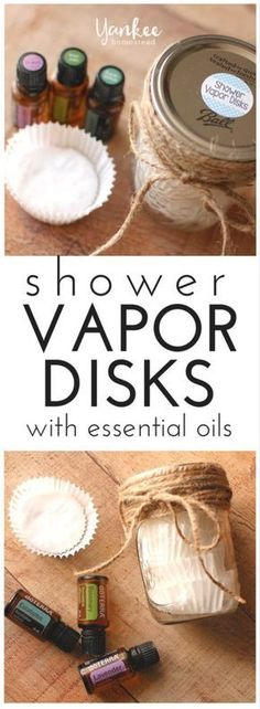 Homemade Shower Vapor Disks with Essential Oils provide soothing respiratory relief in an easy-to-use delivery method. Easy to make, with only 2 ingredients plus essential oils. | Yankee Homestead