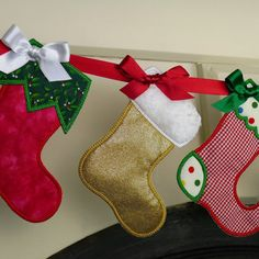 Christmas Stocking In The Hoop Banner by BigDreamsEmbroidery, $4.95