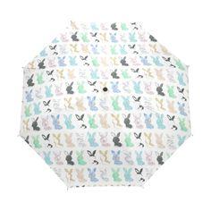 2017 Cartoon Rain Umbrella Creative Animal Children Umbrellas Cute Rabbit Three Folding Women Rain Sun Umbrella #Affiliate