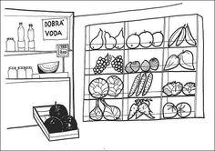 Situační obrázky - Obchod ovoce a zelenina