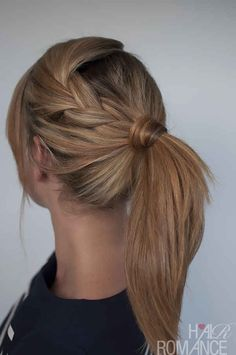 Cute ponytail....The easy braid | 25 Ways To Up Your Ponytail Game