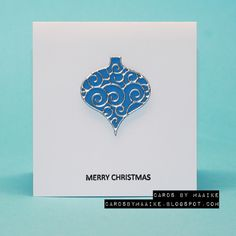 Cards by Maaike: mini cards Red Gold, Blue And Silver, Merry Christmas Card, Mini, Stamp, Memories, Box, Accessories, Memoirs