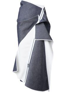 Maticevski draped zipped skirt