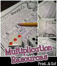 TONS of MULTIPLICATION skills covered here!  LOVE the variety!