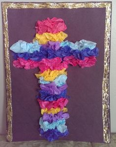 tissue paper cross a