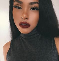 """BEAT DOWN 👄 Foundation : Lock It Medium 53 Brows: pencil in granite Lashes : """"minx Lips : Matte Flat Finish Pigment Lipgloss in """"BackStage"""" Makeup Goals, Makeup Inspo, Makeup Inspiration, Makeup Tips, Beauty Makeup, Hair Makeup, Hair Beauty, Eyebrow Makeup, Makeup On Fleek"""
