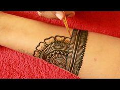 Easy Dulhan Mehndi Design for Full Hand||New Bridal Henna Mehndi Design||Simple Wedding Mehdi Design - YouTube Very Simple Mehndi Designs, Mehndi Designs For Kids, Mehandi Designs Easy, Full Hand Mehndi Designs, Mehndi Designs For Beginners, Mehndi Design Photos, Mehndi Simple, Mehndi Designs For Fingers, Dulhan Mehndi Designs