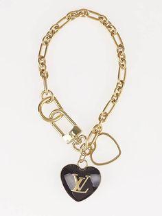 Louis Vuitton Amarante Heart Key Holder and Bag Charm