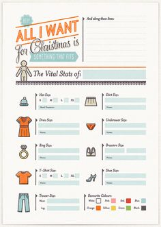 all i want for christmas cheat sheet