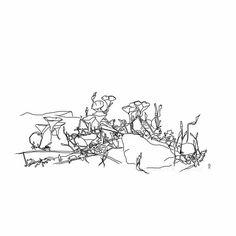 Digital illustration - black and white - 40 X 40 cm.
